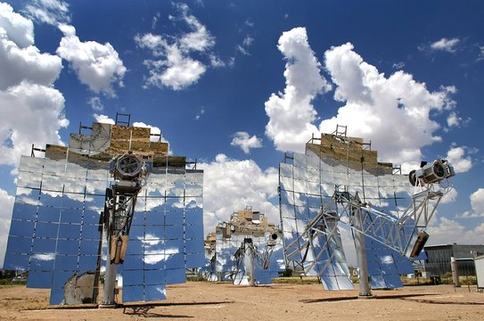 Experimental solar energy system in 2008, is part of a U.S. government technology research
