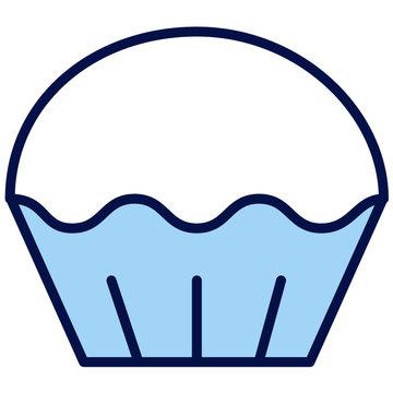 Cupcake Vector Icon Illustration