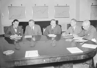 Board of Governors of the Federal Reserve System meeting to discuss the slump in the stock market