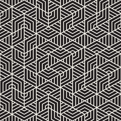 Vector seamless geometric pattern. Irregular abstract grid. Composition from randomly disposed stripes.
