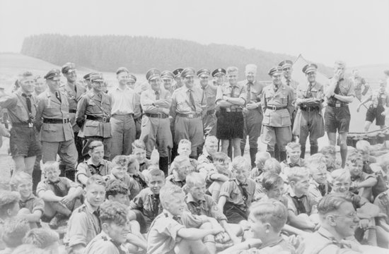 Boys camp is visited by Nazi leadership of the Hitler Youth