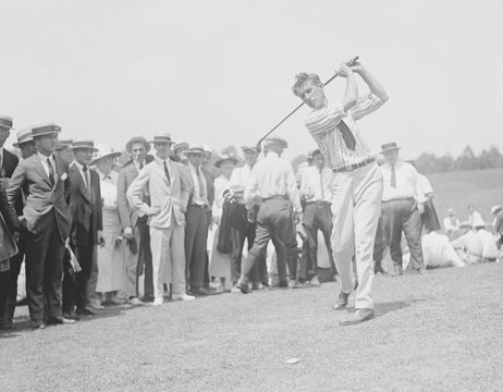 English Golfer Jim Barnes in 1921. He moved to the U. S. where he played professional golf