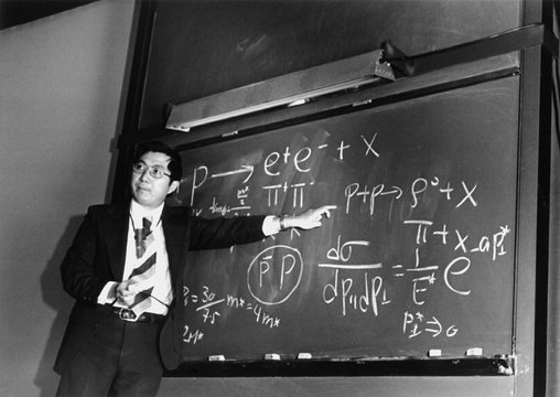 Dr. Samuel Chao Chung Ting, winner of the 1976 Nobel Prize in Physics with Burton Richter
