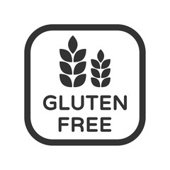 Gluten free vector icon. Product free allergen ingredient symbol. No gluten vector icon. Food intolerance stock vector illustration for printing on food packaging