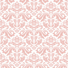 Orient classic pink pattern. Seamless abstract background with vintage elements. Orient background. Ornament for wallpaper and packaging