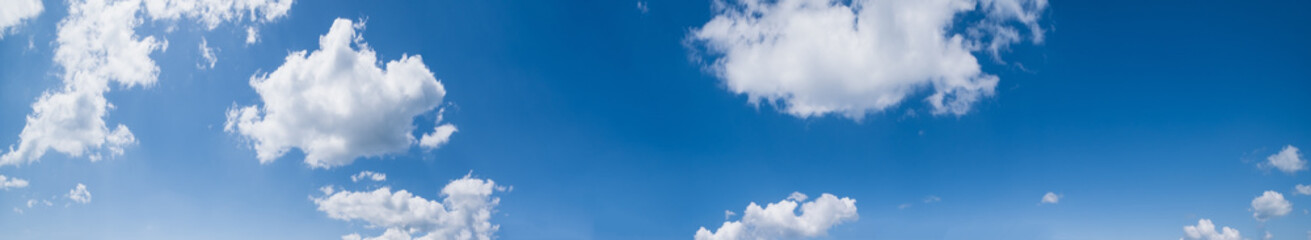 Wall Mural - Blue sky with clouds (high resolution wide background panorama).