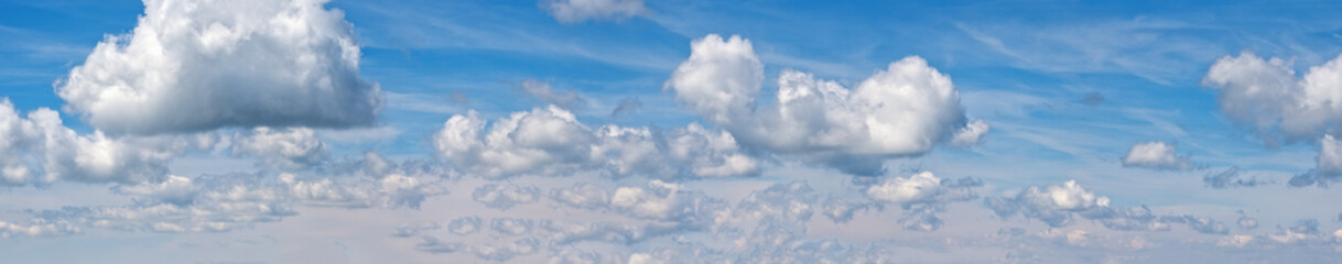 Wall Mural - Blue sky with clouds (high resolution wide background high resolution panorama).