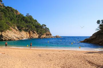 "Costa Brava, the Pola Bay on the hiking trail ""Cami de Ronda"" - near the holiday destination Tossa de Mar, Catalonia - Spain"