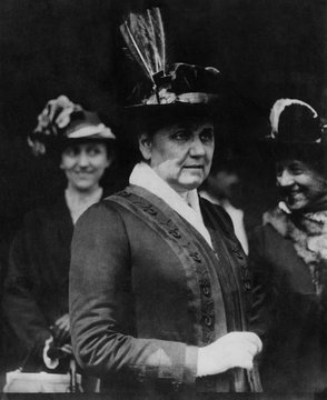 Jane Addams (1860-1935), founder of Hull House and Nobel Peace Prize Laureate, circa 1914