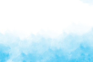 Light blue watercolor background hand-drawn with space for text or image