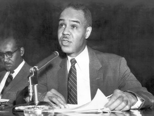 Roy Wilkins (1901-1981), civil rights activist, 1957
