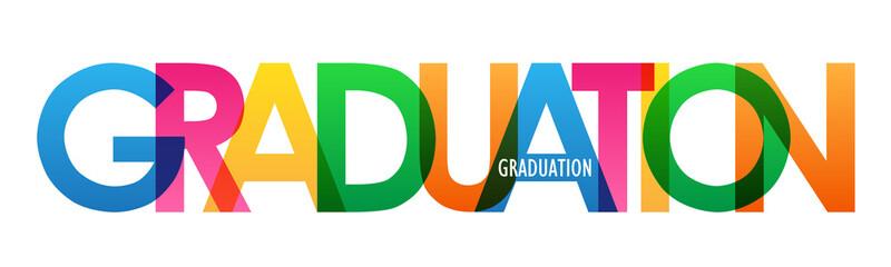 GRADUATION rainbow vector typography banner