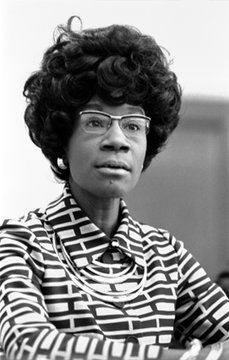 Congresswoman Shirley Chisholm (1924-2005), announcing her candidacy for presidential nomination