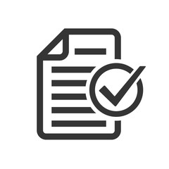 Document icon with check mark - vector icon.