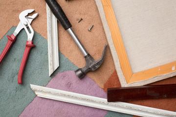 Making frame for artist canvas