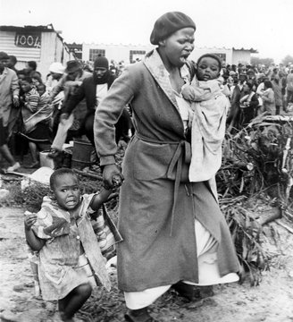 Shantytown in South Africa, 1981