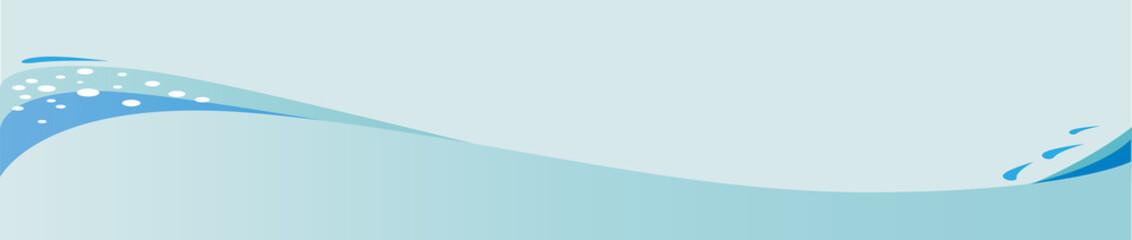 Blue Wave Banner Background