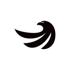 eagle bird vector logo template silhouette
