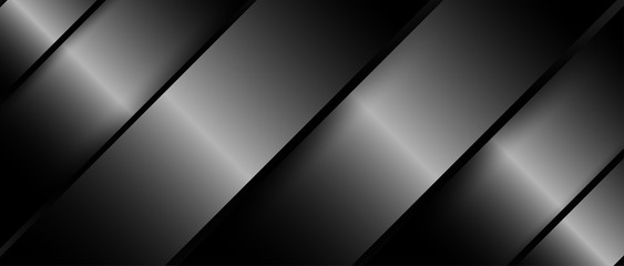 Abstract. Silver steel overlap layer on black background ,light and shadow. modern futuristic background. Vector.