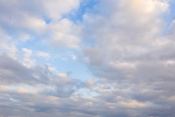 Canvas Prints Heaven sunset cloudy sky with dramatic color