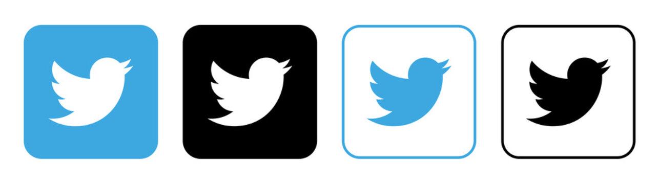 Twitter Bird vector icon EPS 10