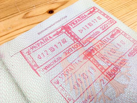 Ukrainische Stempel in deutschem Reisepass