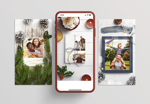Light and Bright Holiday Mockup Set for Instagram
