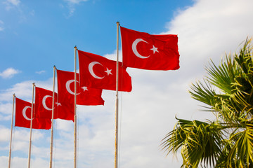 The flag of the Republic of Turkey, often referred to as the Turkish flag is a red flag featuring a white star and crescent.