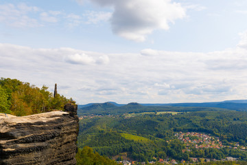 view from mountain lilienstein, saxon switzerland