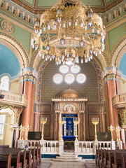 Interior of the Jewish synagogue in Sofia (Bulgaria)