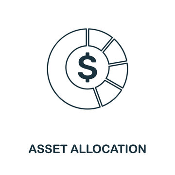 Asset Allocation icon outline style. Thin line creative Asset Allocation icon for logo, graphic design and more