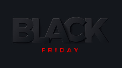 Black friday banner, card, poster. Vector Illustrator