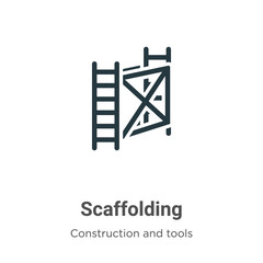 Scaffolding vector icon on white background. Flat vector scaffolding icon symbol sign from modern construction and tools collection for mobile concept and web apps design.