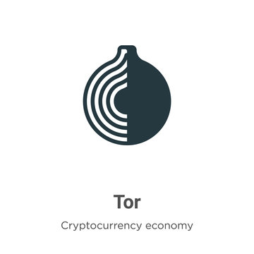 Tor vector icon on white background. Flat vector tor icon symbol sign from modern blockchain collection for mobile concept and web apps design.