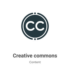 Creative commons vector icon on white background. Flat vector creative commons icon symbol sign from modern content collection for mobile concept and web apps design.