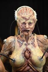 Heidi Klum Dresses in Halloween Costume with Live Audience