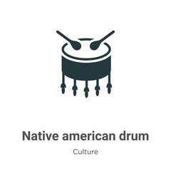 Native american drum vector icon on white background. Flat vector native american drum icon symbol sign from modern culture collection for mobile concept and web apps design.