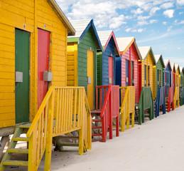 Staande foto Zuid Afrika Strandhütten Nahaufnahme