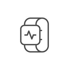 Health tracker line outline icon
