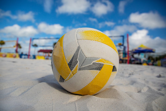 Beachvolleyball on Sand in Florida at the Beach