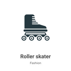 Roller skater vector icon on white background. Flat vector roller skater icon symbol sign from modern fashion collection for mobile concept and web apps design.