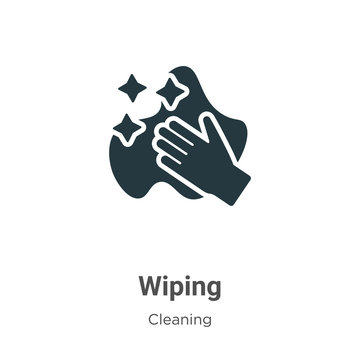 Wiping vector icon on white background. Flat vector wiping icon symbol sign from modern cleaning collection for mobile concept and web apps design.