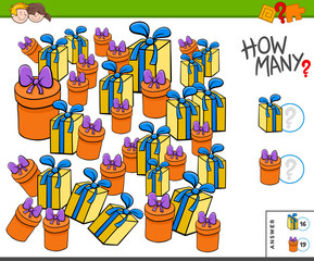 how many presents or gifts educational task