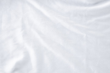 Deurstickers Stof White crumpled cloth texture background. clean fabric texture background ,wavy fabric.