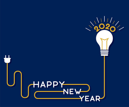 creative new year 2020 greeting design