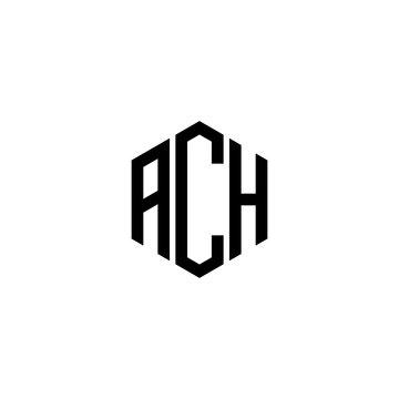 ACH Letter Logo Design polygon Monogram Icon Vector Template