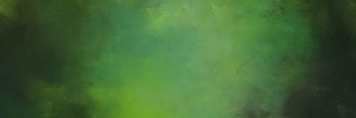 abstract painting background texture with dark olive green, moderate green and very dark green colors and space for text or image. can be used as header or banner Fotomurales
