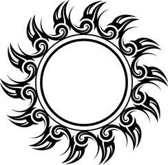 Tribal Tattoo Sun Design