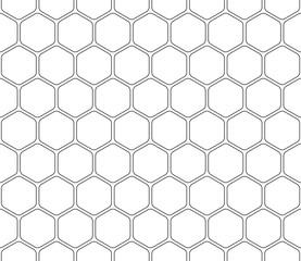 Seamless pattern hexagon, stroke editable.