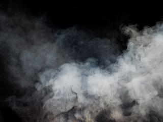 Garden Poster Smoke White smoke rises from below. Studio photography